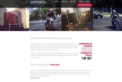 Daredevil Courier & Corp Services Homepage