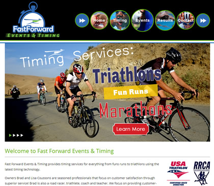 Fast Forward Events and Timing Homepage