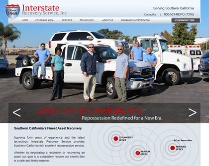 Interstate Recovery Services Homepage