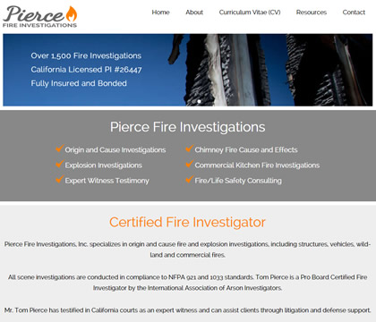 Pierce Fire Investigations Homepage