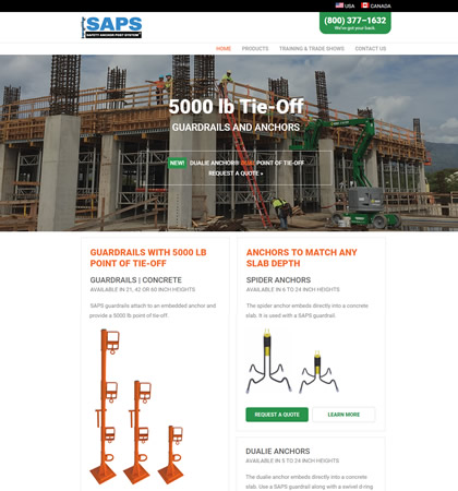 Safety Anchor Post System Homepage