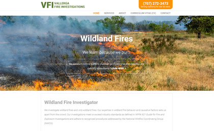 Vallerga Fire Investigations Homepage